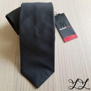 NWT Murano Sport Tie Black White Skinny Sexy Silk
